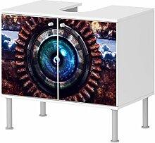 Badunterschrank Badezimmer Computer Ausschalten Energie Strom schönes Design schick NEU 100BADU2294