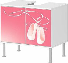 Badunterschrank Badezimmer Schuhe Rosa Prinizesin Designer Schrank schickes Design NEU 100BADU871