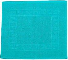 Badvorleger 50 x 40 cm Julie Julsen in Premium Qualität 900 gm2 in aktuellen Farben und 4 Größen aus Baumwolle Badematte Badteppich Duschvorleger Design Spirale Türkis