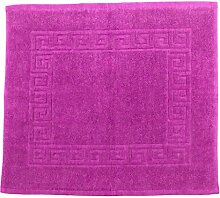 Badvorleger 50 x 40 cm Julie Julsen in Premium Qualität 900 gm2 in aktuellen Farben und 4 Größen aus Baumwolle Badematte Badteppich Duschvorleger Design Spirale Pink