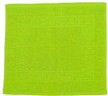 Badvorleger 50 x 40 cm Julie Julsen in Premium Qualität 900 gm2 in aktuellen Farben und 4 Größen aus Baumwolle Badematte Badteppich Duschvorleger Design Spirale Apfelgrün