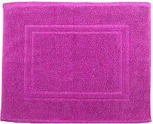 Badvorleger 50 x 40 cm Julie Julsen in Premium Qualität 900 gm2 in aktuellen Farben und 4 Größen aus Baumwolle Badematte Badteppich Duschvorleger Design Doppel Rahmen Pink