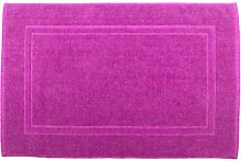 Badvorleger 50 x 80 cm Julie Julsen in Premium Qualität 900 gm2 in aktuellen Farben und 4 Größen aus Baumwolle Badematte Badteppich Duschvorleger Design Doppel Rahmen Pink