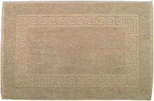 Badvorleger 50 x 80 cm Julie Julsen in Premium Qualität 900 gm2 in aktuellen Farben und 4 Größen aus Baumwolle Badematte Badteppich Duschvorleger Design Spirale Sand