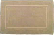 Badvorleger 50 x 80 cm Julie Julsen in Premium Qualität 900 gm2 in aktuellen Farben und 4 Größen aus Baumwolle Badematte Badteppich Duschvorleger Design Doppel Rahmen Sand