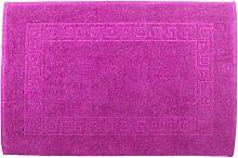 Badvorleger 50 x 80 cm Julie Julsen in Premium Qualität 900 gm2 in aktuellen Farben und 4 Größen aus Baumwolle Badematte Badteppich Duschvorleger Design Spirale Pink