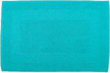 Badvorleger 50 x 80 cm Julie Julsen in Premium Qualität 900 gm2 in aktuellen Farben und 4 Größen aus Baumwolle Badematte Badteppich Duschvorleger Design Spirale Türkis