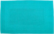 Badvorleger 60 x 100 cm Julie Julsen in Premium Qualität 900 gm2 in aktuellen Farben und 4 Größen aus Baumwolle Badematte Badteppich Duschvorleger Design Spirale Türkis