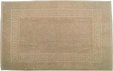 Badvorleger 60 x 100 cm Julie Julsen in Premium Qualität 900 gm2 in aktuellen Farben und 4 Größen aus Baumwolle Badematte Badteppich Duschvorleger Design Spirale Sand