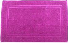 Badvorleger 70 x 120 cm Julie Julsen in Premium Qualität 900 gm2 in aktuellen Farben und 4 Größen aus Baumwolle Badematte Badteppich Duschvorleger Design Doppel Rahmen Pink