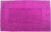 Badvorleger 70 x 120 cm Julie Julsen in Premium Qualität 900 gm2 in aktuellen Farben und 4 Größen aus Baumwolle Badematte Badteppich Duschvorleger Design Spirale Pink
