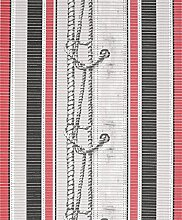 Badvorleger Aquamat Antirutsch Matte Bodenbelag, Bad Garten Küche, Schiffsknoten Rot, Größe wählbar (500x65 cm)