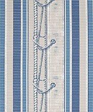 Badvorleger Aquamat Antirutsch Matte Bodenbelag, Bad Garten Küche, Schiffsknoten Blau, Größe wählbar (300x65 cm)