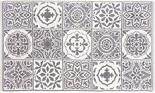 Badvorleger aus Baumwolle mit Zementfliesen-Muster