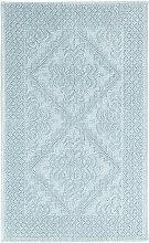 Badvorleger aus geknüpfter Baumwolle, grün 65x100