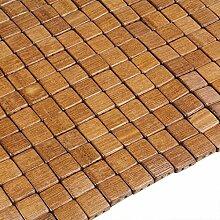 Badvorleger Holz Bambus Duschvorleger Holz-Matte Badezimmer Duschmatte Badematte Bambusmatte