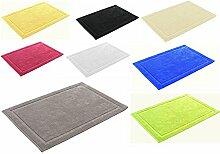 Badvorleger in 8 Farben ca. 50 x 70cm Badematte Badteppich Duschvorleger Premium Qualität 700 g/m² (Grau)