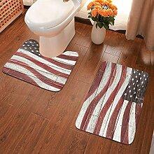 Badvorleger mit amerikanischer Flagge auf