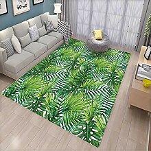 Badvorleger mit Blättermotiv, tropisch, exotisch,