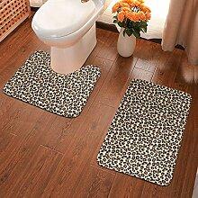Badvorleger mit Leopardenmuster, schwarz, braun,