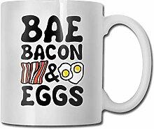 Bae-Speck und Ei-lustige keramische Kaffeetasse