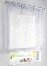 Bändchenrollo Roya, weiß (H/B: 155/60 cm)