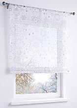 Bändchenrollo Stella, weiß (H/B: 140/100 cm)