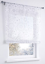 Bändchenrollo Stella, weiß (H/B: 140/60 cm)
