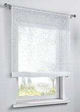 Bändchenrollo Vivien, weiß (H/B: 120/60 cm)