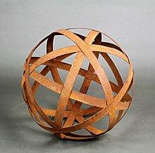 Bänderkugel Kugel Metall Rost Gartendeko Edelrost 30cm (30cm)