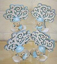 Bär hellblau Kind Lebensbaum Gastgeschenk Taufe