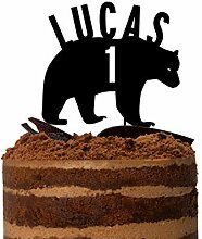 Bär Kuchenaufsatz Holzfäller Tortenaufsatz