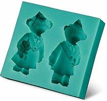 Bärenpaar Weihnachten Fondant Kuchen Design Form,