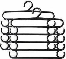 baffect Jeans Kleiderbügel Kleiderbügel Saver Storage Rack für hängende Jeans Schal Krawatte Handtuch (Pack von 2) schwarz