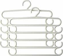 baffect Jeans Kleiderbügel Kleiderbügel Saver Storage Rack für hängende Jeans Schal Krawatte Handtuch (Pack von 2) weiß