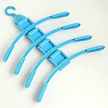 baffect platzsparende Kleiderbügel rutschfeste Drehen Magic Kleiderbügel mit Pest Control Box Closet Organizer blau