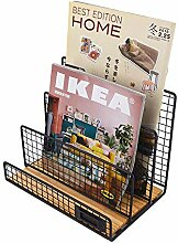 Baffect Zeitschriftenständer mit 3 Fächer
