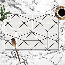 Bag hat Geometrische Raute abstraktTischsets für