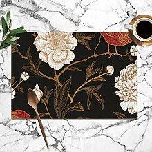 Bag hat Pfingstrosen Fasane Floral Vintage