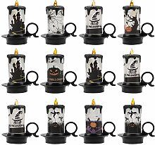 Bageek 12PCS Halloween LED Kerze dekorative