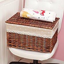 bagehua Bett Rattan Aufbewahrungskorb, Kleidung, bunt, Speicherung von Schmutz der Handschuhfach Aufbewahrungsbox Aufbewahrungsbox aus Weide braun Baby N ° 3Wäschekorb-Daisy