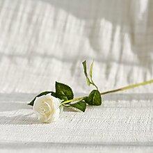 BAGEHUA einen Strauß Blumen Heimtextilien Simulation Soft Outfit Accessoires Möbel Dekorationen Blumen Rose Blume Weiß