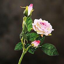 BAGEHUA einen Strauß Blumen Heimtextilien Simulation Soft Outfit Accessoires Möbel Dekorationen Blumen Rose Blume Rosa