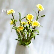 BAGEHUA einen Strauß Blumen Heimtextilien Simulation Software das installierte Zubehör Wohnzimmer Tisch Blumenschmuck Blumen Gänseblümchen Gelb
