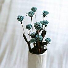BAGEHUA einen Strauß Blumen Heimtextilien Simulation Software installiert Auf dem Wohnzimmer Tisch Dekoration Zubehör Blumenschmuck. Grau (nur Blumen)