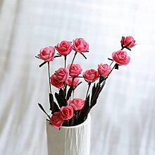 BAGEHUA einen Strauß Blumen Heimtextilien Simulation Software installiert Auf dem Wohnzimmer Tisch Dekoration Zubehör Blumenschmuck. Rosa (nur Blumen)