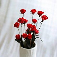 BAGEHUA einen Strauß Blumen Heimtextilien Simulation Software installiert Auf dem Wohnzimmer Tisch Dekoration Zubehör Blumenschmuck. Rot (nur Blumen)