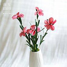 BAGEHUA einen Strauß Blumen Heimtextilien Simulation Software das installierte Zubehör Wohnzimmer Tisch Blume Schmetterling Blume Dekoration Blumen Rosa