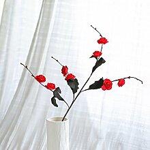 BAGEHUA einen Strauß Blumen Heimtextilien Simulation Software das installierte Zubehör Wohnzimmer Tisch Blumenschmuck der Winter Jasmin Blume Ro