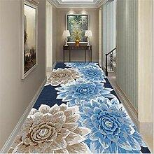 BAGEHUA Soft Home Blaue Blume rutschfeste